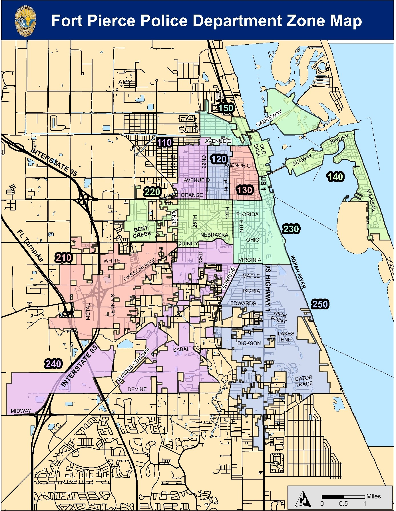 FPPD Zone Map