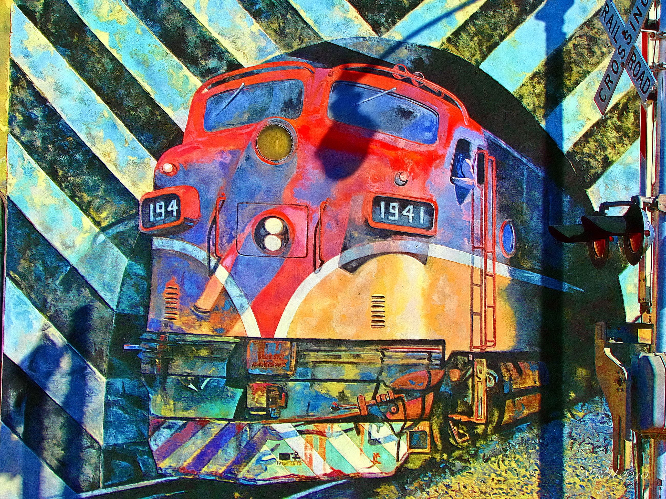 Train Mural Downtown Fort Pierce