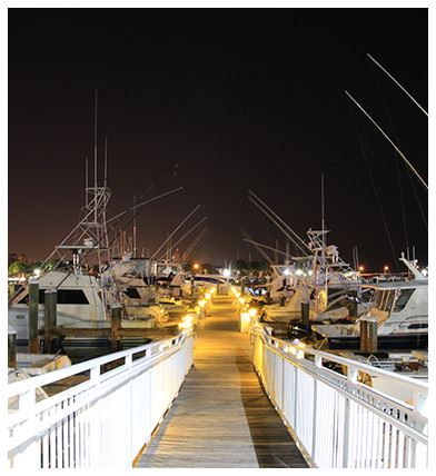Marina Boardwalk at Night