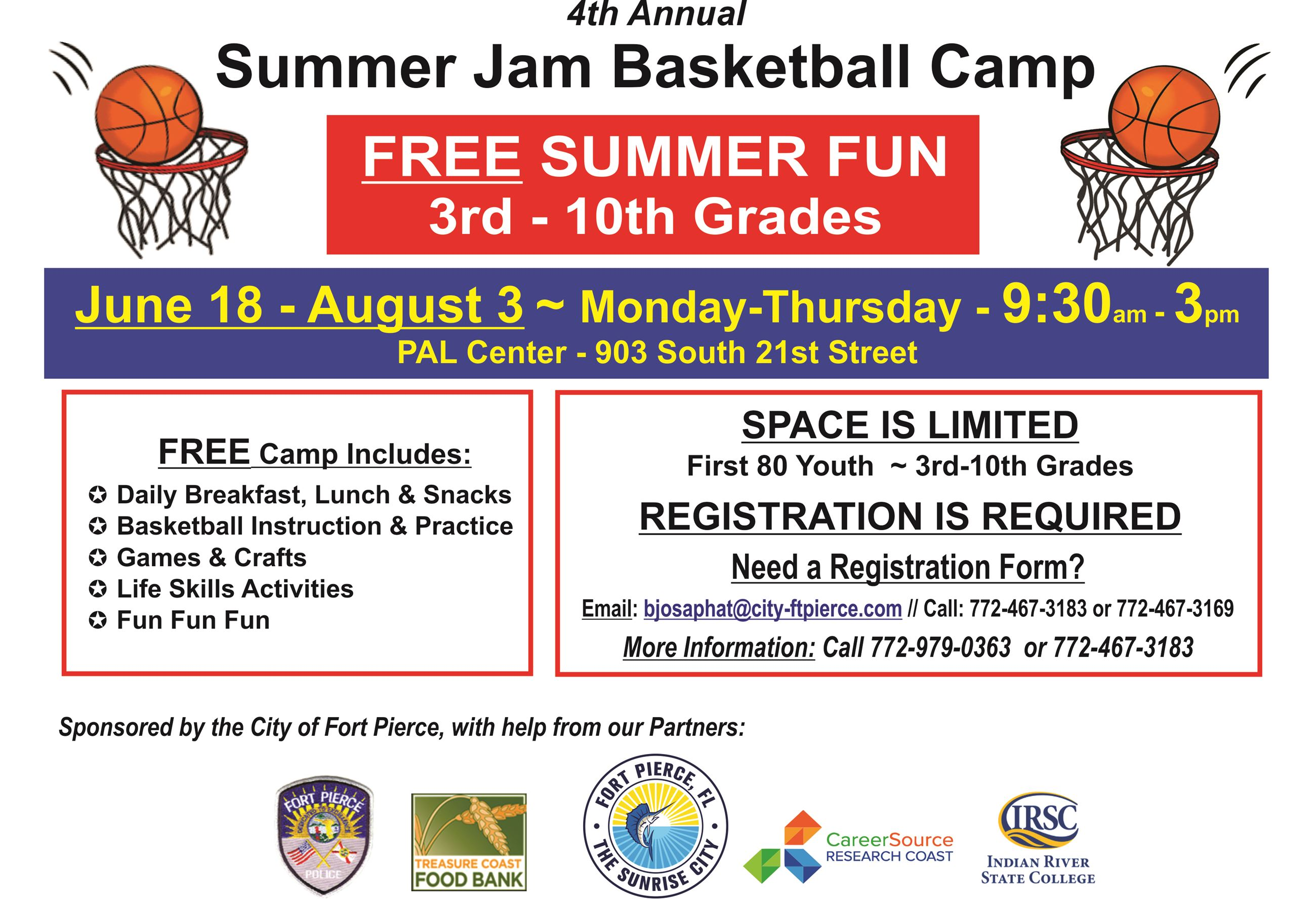 2018 Summer Jam Basketball Camp