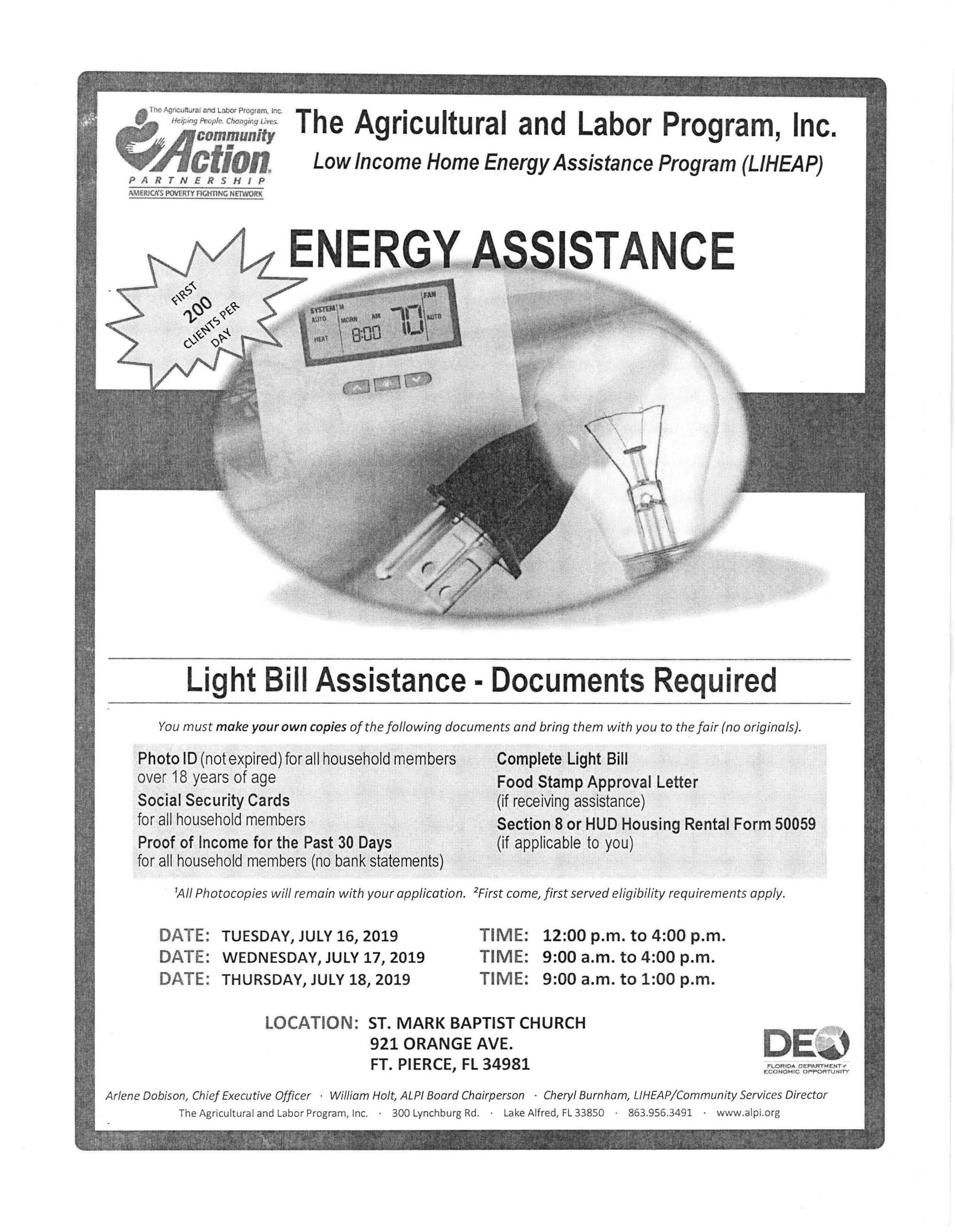 Energy Assistance Flyer